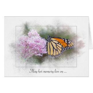 Cartes papillon de sympathie-monarque sur le fleur