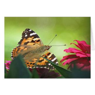 Cartes Papillon et Zinnias peints
