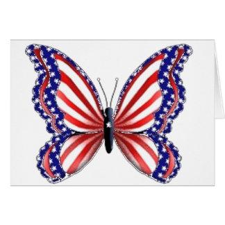 Cartes Papillon patriotique