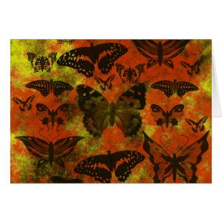 Cartes Papillons assez oranges et jaunes