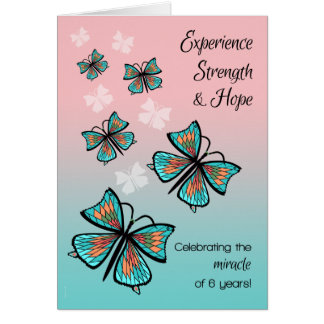Cartes Papillons d'anniversaire de récupération de