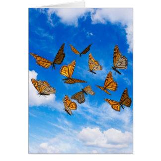 Cartes Papillons de monarque dans le ciel