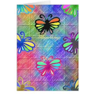 Cartes Papillons pensant à vous…