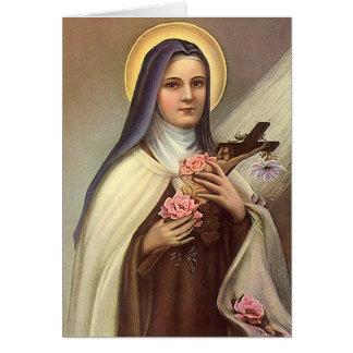 Cartes Pâques religieuse vintage, nonne avec la croix