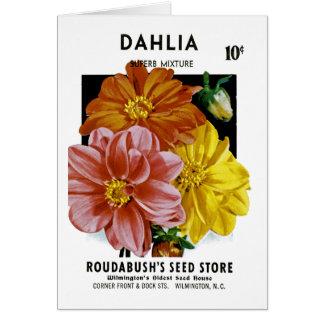 Cartes Paquet vintage de graine de dahlia