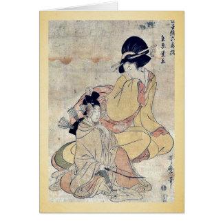 Cartes par Kitagawa, Utamaro Ukiyo-e.