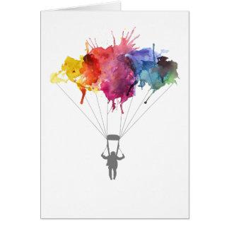 Cartes Parachutiste, parachute. Sport de parachutisme.