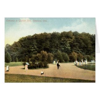Cartes Parc de Garfield, cru 1910 de Cleveland Ohio