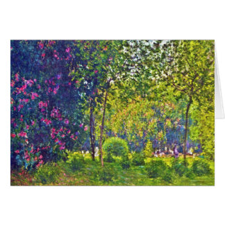 Cartes Parc Monceau Claude Monet