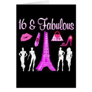 Cartes PARIS A INSPIRÉ la 16ème CONCEPTION d'ANNIVERSAIRE