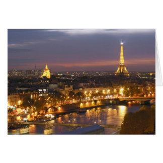 Cartes Paris par nuit