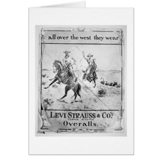 Cartes Parlez pour Lévi Strauss et Co, c.1900 (le litho)