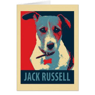 Cartes Parodie politique d'espoir de Jack Russel Terrier