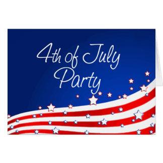 Cartes Partie de drapeau et d'arrière - plan 4 juillet