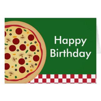 Cartes Partie de joyeux anniversaire de pizza