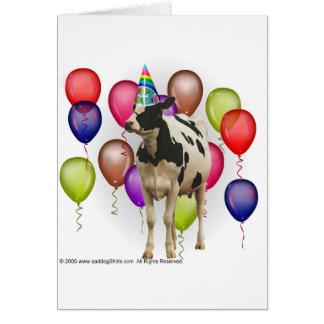 Cartes Partie de thème de vache à anniversaire