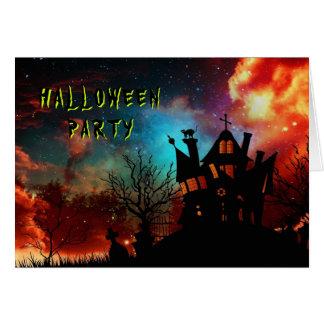 Cartes Partie hantée de Halloween de Chambre