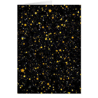 Cartes Parties scintillantes Stars3 - Noir d'or
