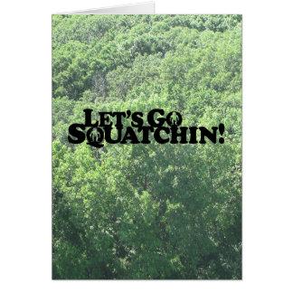 Cartes Partons Squatchin - produits multiples