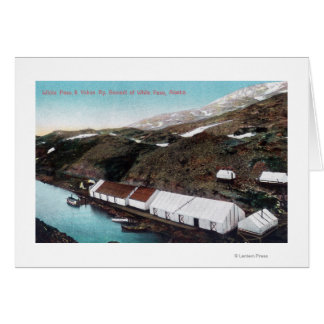 Cartes Passage et train de chemin de fer blancs du Yukon