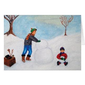 """Cartes Passant un jour de neige ainsi que """"bonnes fêtes """""""