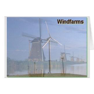 Cartes Passé et présent de champs d'éoliennes