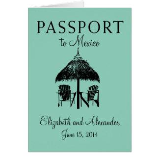 Cartes Passeport au mariage de Cancun Mexique