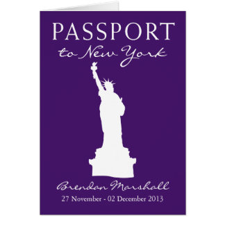 Cartes Passeport d'anniversaire de New York City