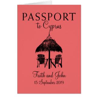 Cartes Passeport | de la Chypre de plage de Nissi