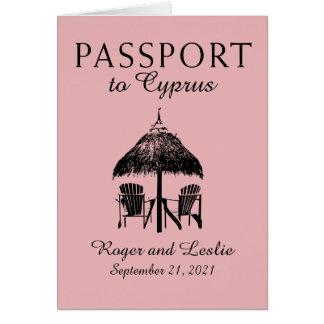 Cartes Passeport de mariage de la Chypre Paphos