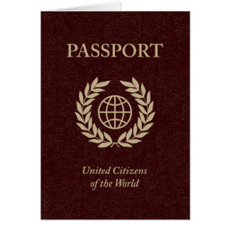 Cartes passeport marron
