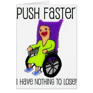 Cartes Patient fâché dans le fauteuil roulant