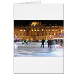 Cartes Patinage de glace de Noël