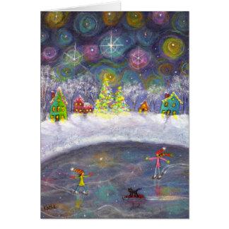Cartes Patinage sous le ciel étoilé