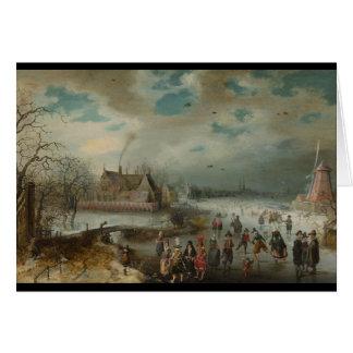 Cartes Patinage sur la rivière congelée d'Amstel