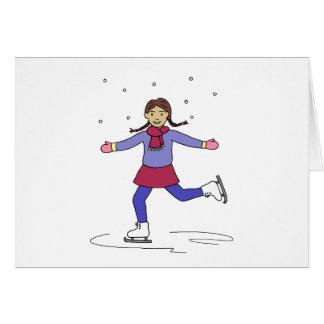 Cartes Patineur artistique de fille de patinage de glace