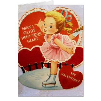Cartes Patineur de glace vintage Valentine