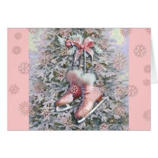 Cartes PATINS de GLACE dans le ROSE par SHARON SHARPE