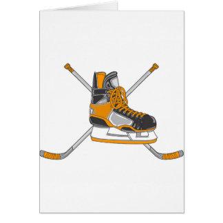 Cartes Patins de hockey sur glace