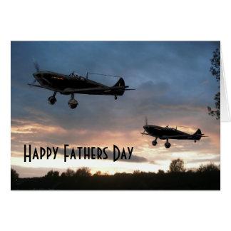 Cartes Patrouille d'aube, fête des pères heureuse