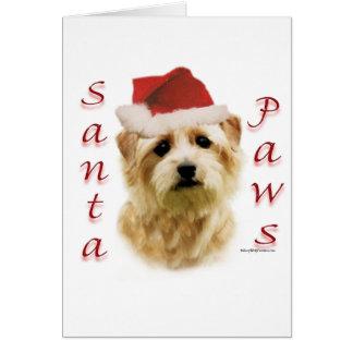 Cartes Pattes de Norfolk Terrier Père Noël