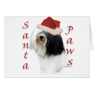 Cartes Pattes de Terrier tibétain Père Noël