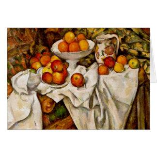 Cartes Paul Cézanne - pommes et oranges