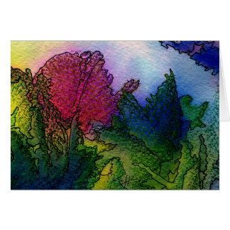 Cartes Paysage abstrait dans les aquarelles - lever de