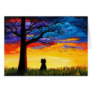 Cartes Paysage coloré Creationarts de chêne de chat