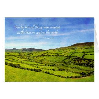 Cartes Paysage de 1h16 de Colossians d'Irlande