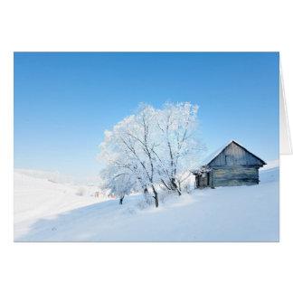 Cartes Paysage de cabine d'hiver