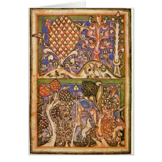 Cartes Paysage de forêt par le maître du Carmina Burana