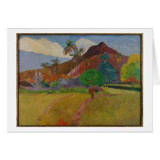 Cartes Paysage de Tahitian, 1891 (huile sur la toile)