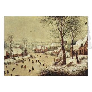 Cartes Paysage d'hiver avec un piège d'oiseau - 1565